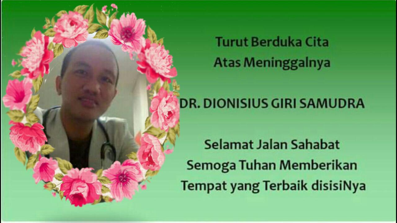 Teman sejawat dr. Dionisius Giri Samudra, alumni FK UNHAS angkatan 2009